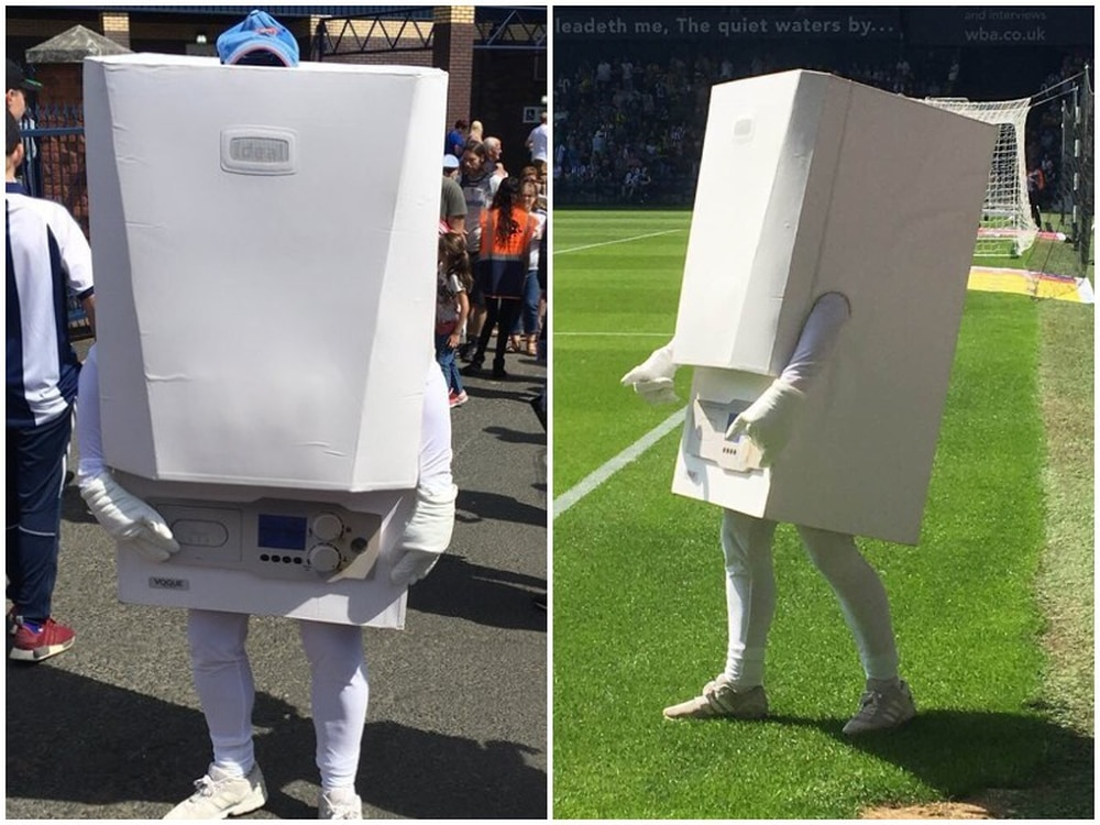 West Brom reveal \'Boiler Man\' mascot - which becomes instant online ...