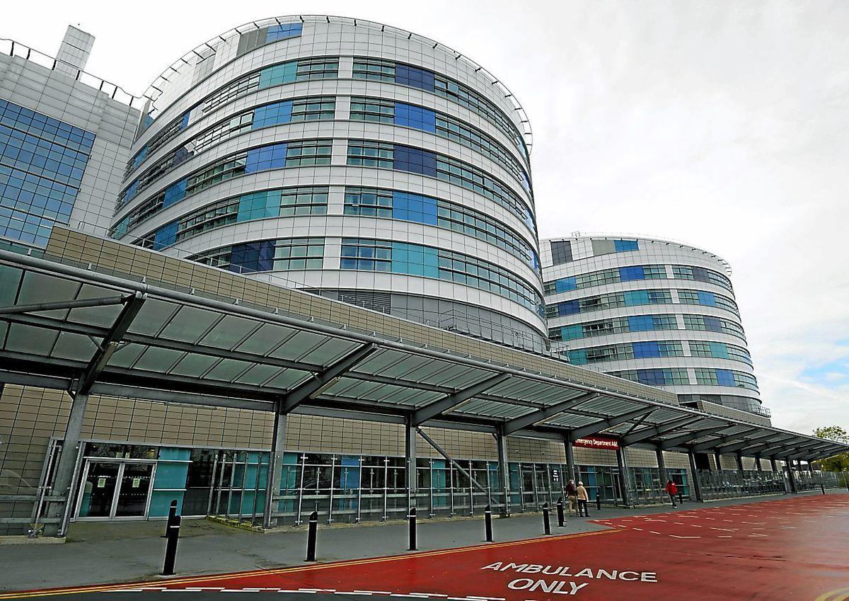 Both injured men were taken to the Queen Elizabeth Hospital Birmingham. Photo: Rui Vieira/PA Wire