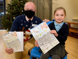 Phoebe Rutter, five, from Cotwall End Primary School, won MP Marco Longhi's Christmas card competition