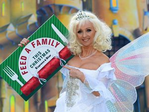 Debbie McGee shows her support for the Express & Star's Feed a Family This Christmas appeal