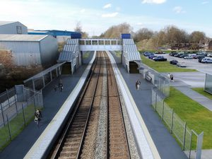 An artist's impression of what the new Darlaston Railway Station will look like. PIC: West Midlands Rail Executive