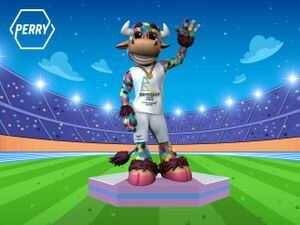 Perry the Bull has been unveiled as Birmingham 2022's official mascot