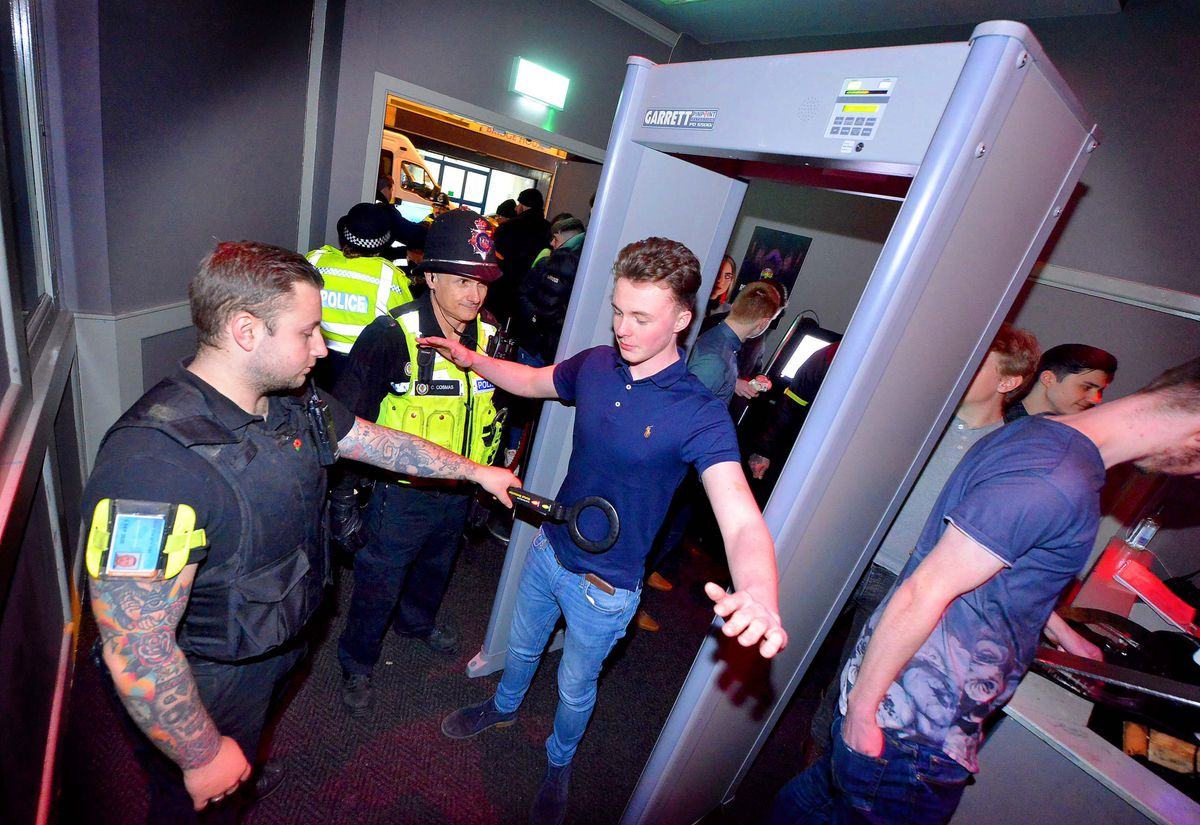 Knife arches were temporarily brought in at nightclubs in Walsall town centre following the fatal stabbing of Reagan Asbury