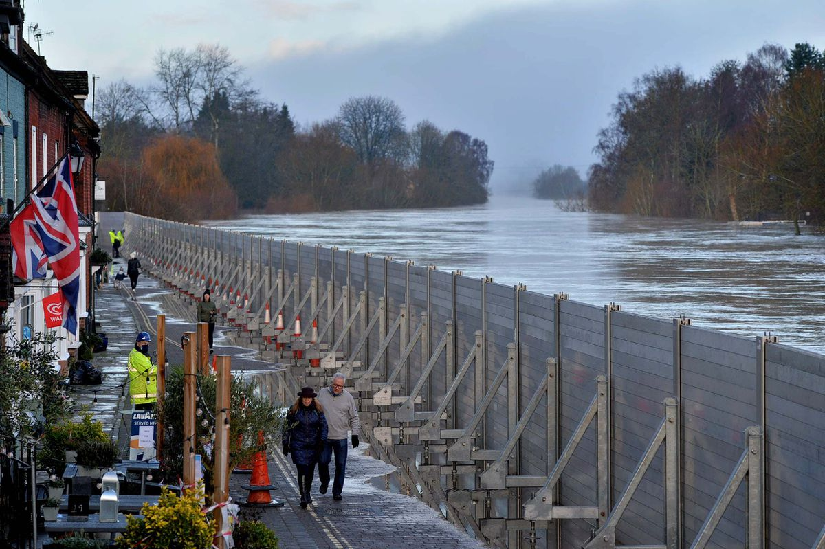 River Severn flooding in Bewdley