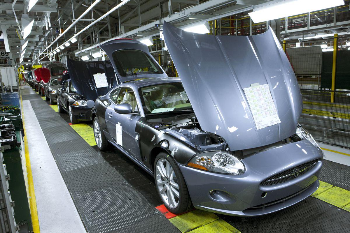 Jaguar production at the JLR plant at Castle Bromwich