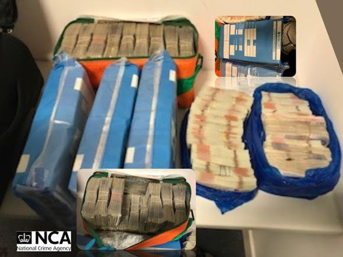The cash seized by investigators. Photo: National Crime Agency.