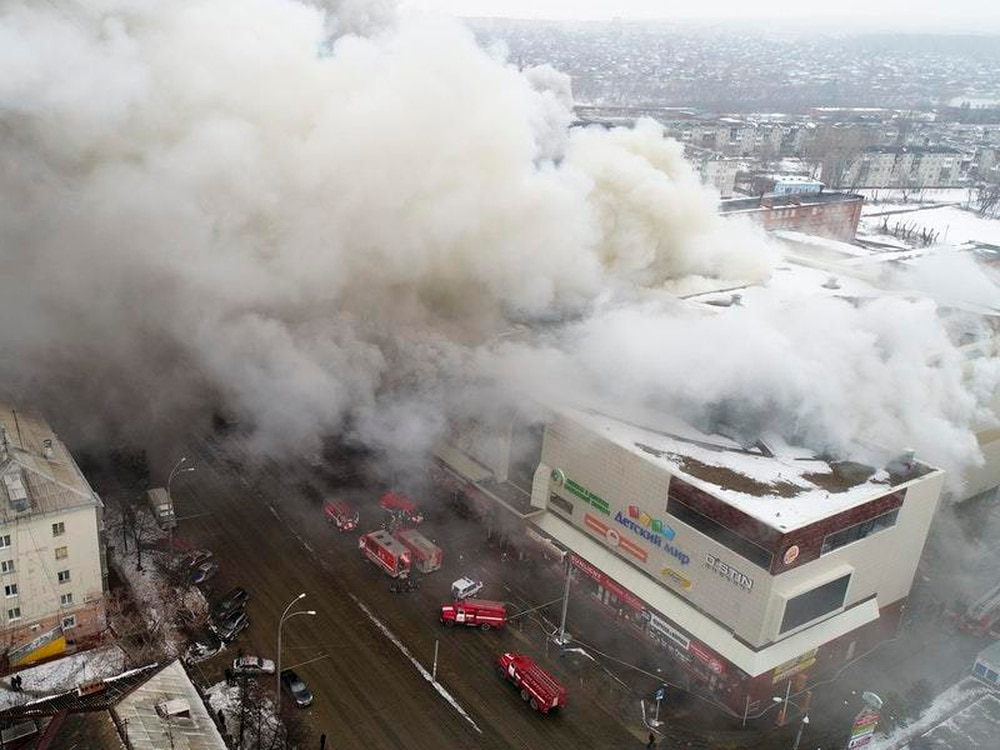 Fire in shopping mall in Siberia kills 5 and injures 32