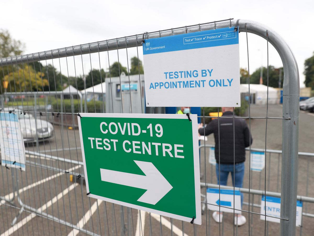 A Covid testing centre