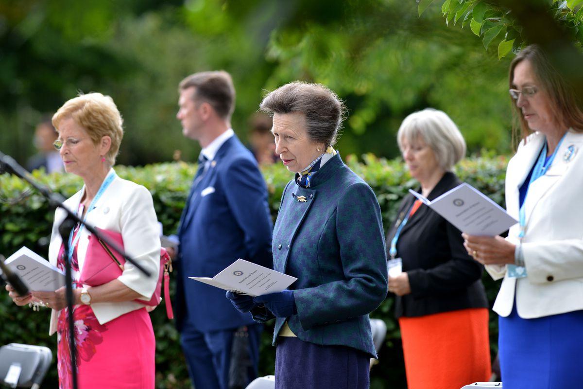 The Princess Royal at the service