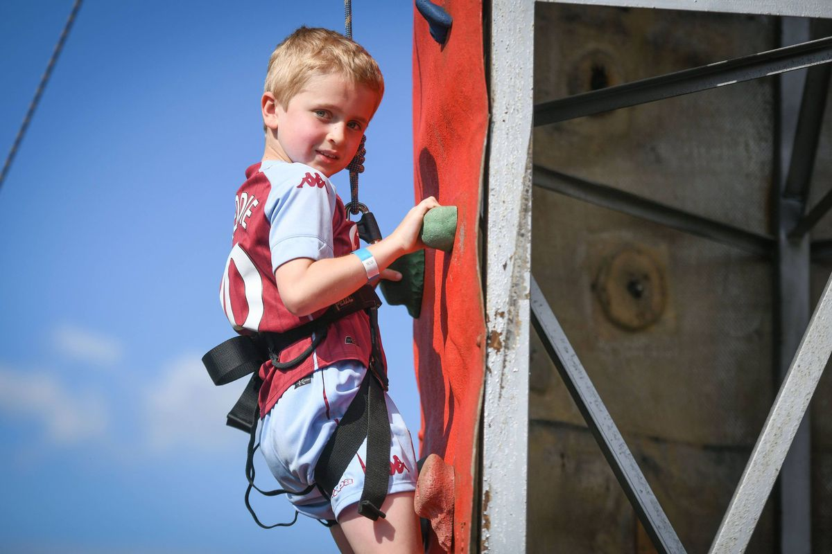 Youngsters had the chance to have a go at climbing. Picture: Richard Harris
