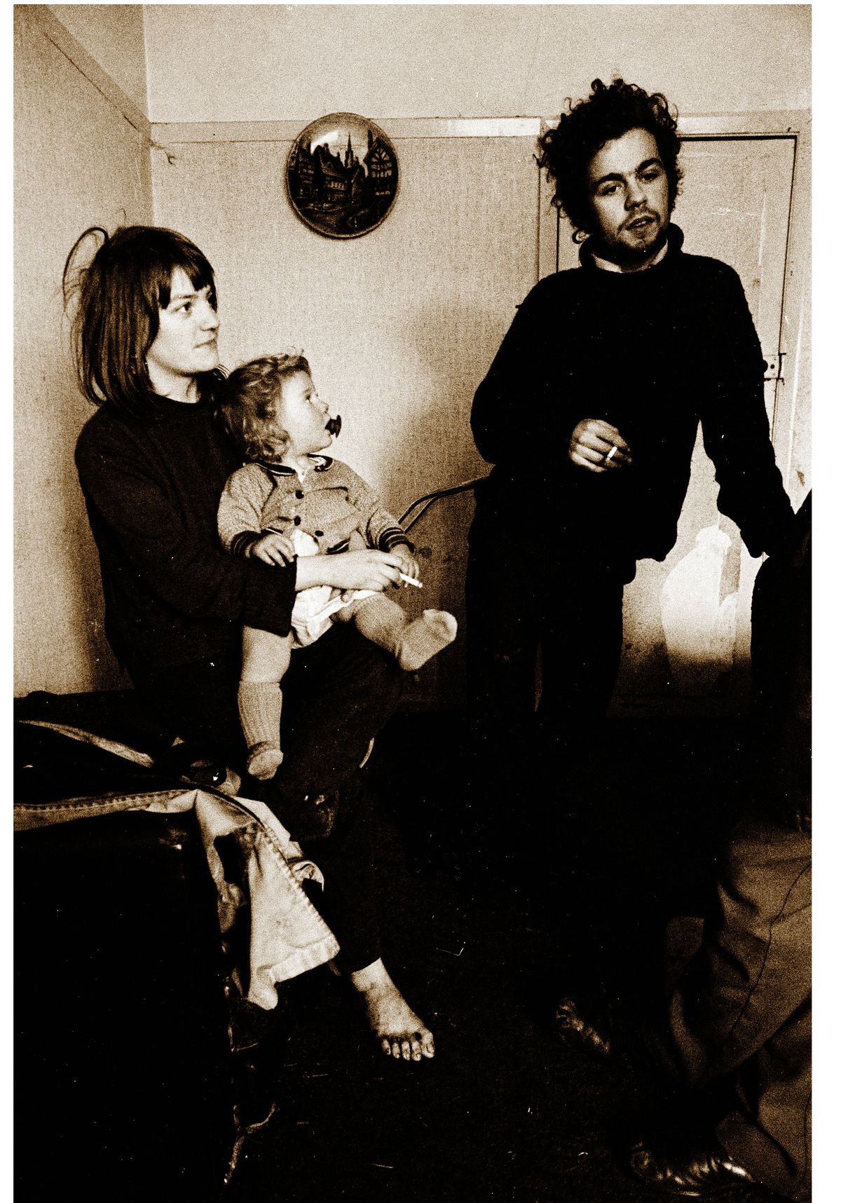 A young couple and their child who had just moved into their new home