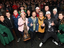 Coronation Street's David Platt turns on Wednesbury Christmas lights