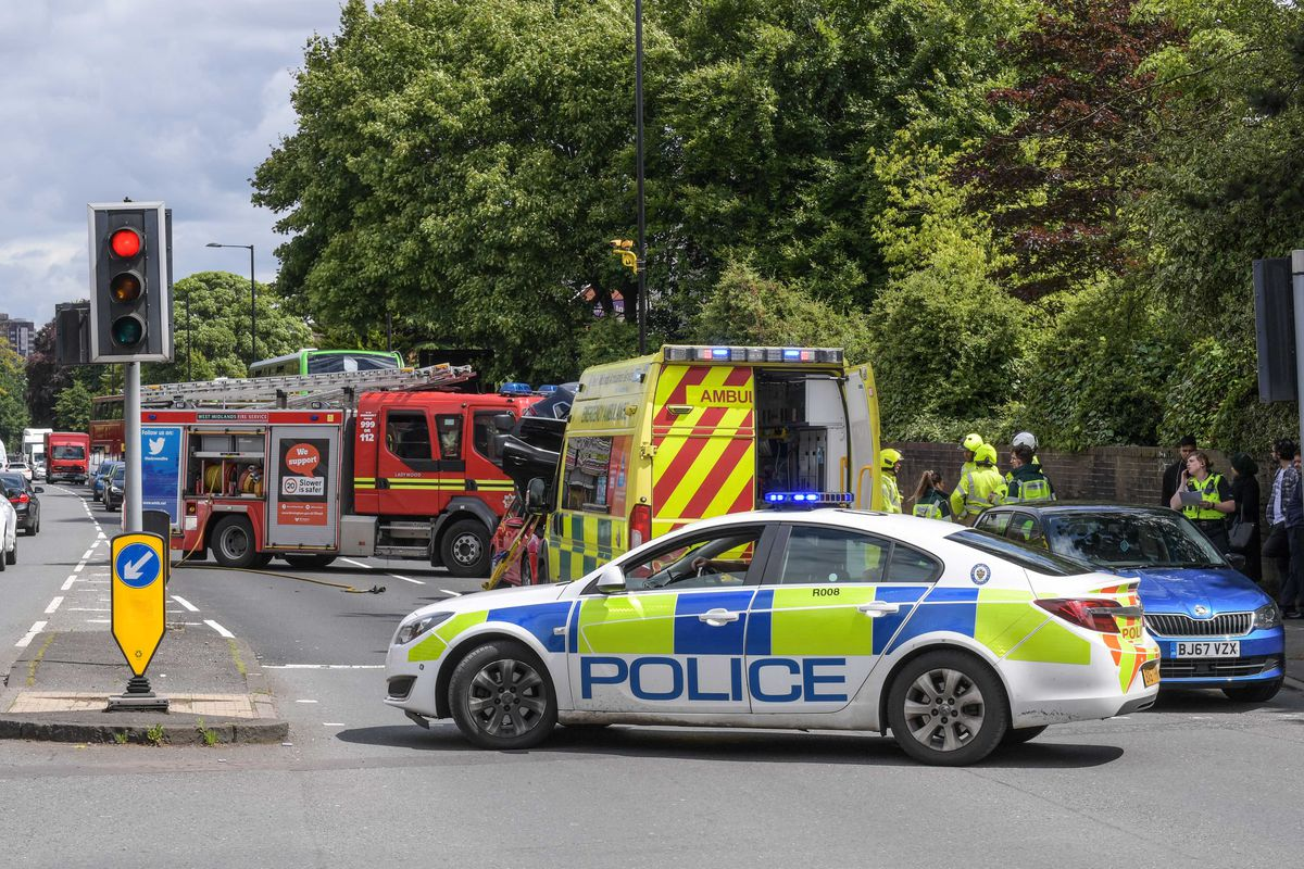 Motorists were advised to avoid the Hagley Road while emergency services crews were at the scene. Photo: SnapperSK