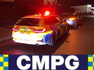 An Audi was stopped on the M5 (Image: @CMPG)
