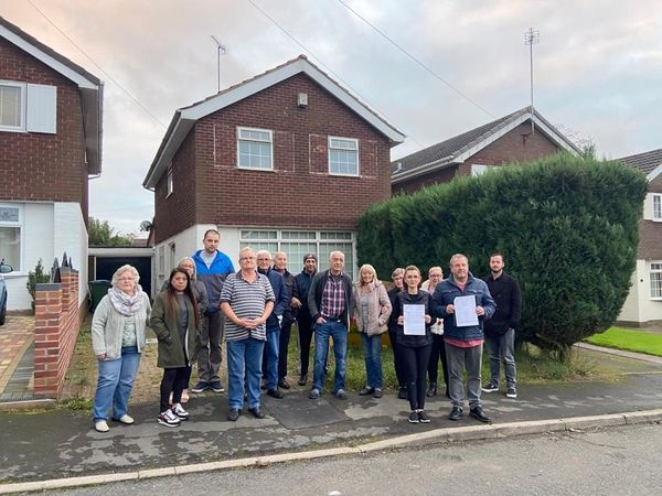 Residents outside Suffolk Close. Photo: David Rowlands