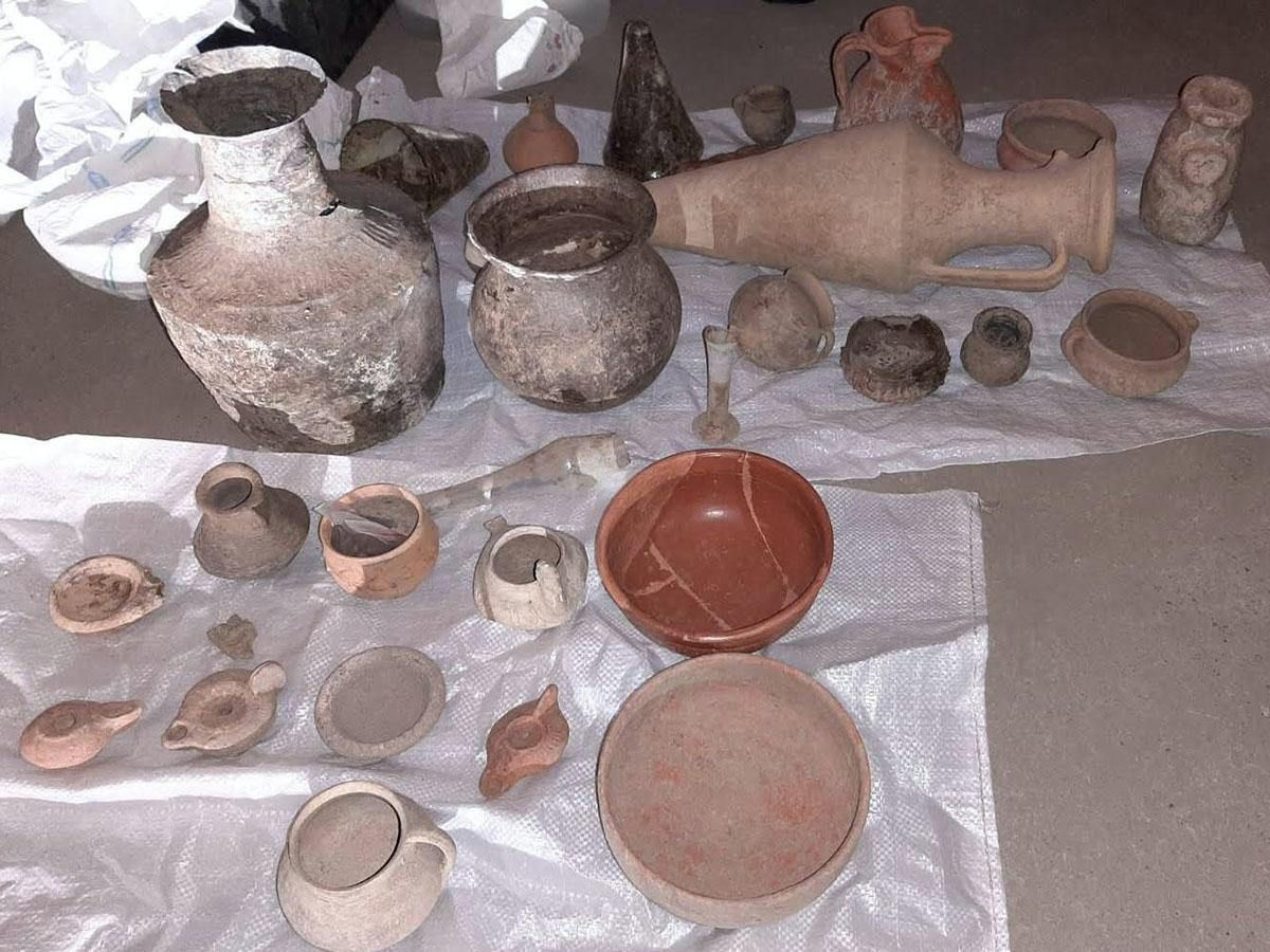 Items stolen from an ancient site in Bulgaria
