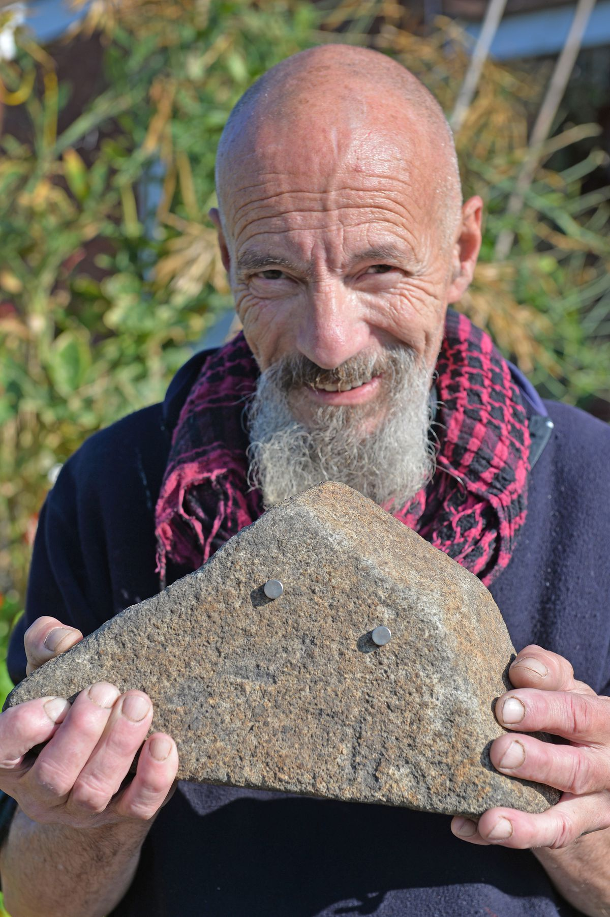 Andrew with what he believes is a remnant of a meteorite