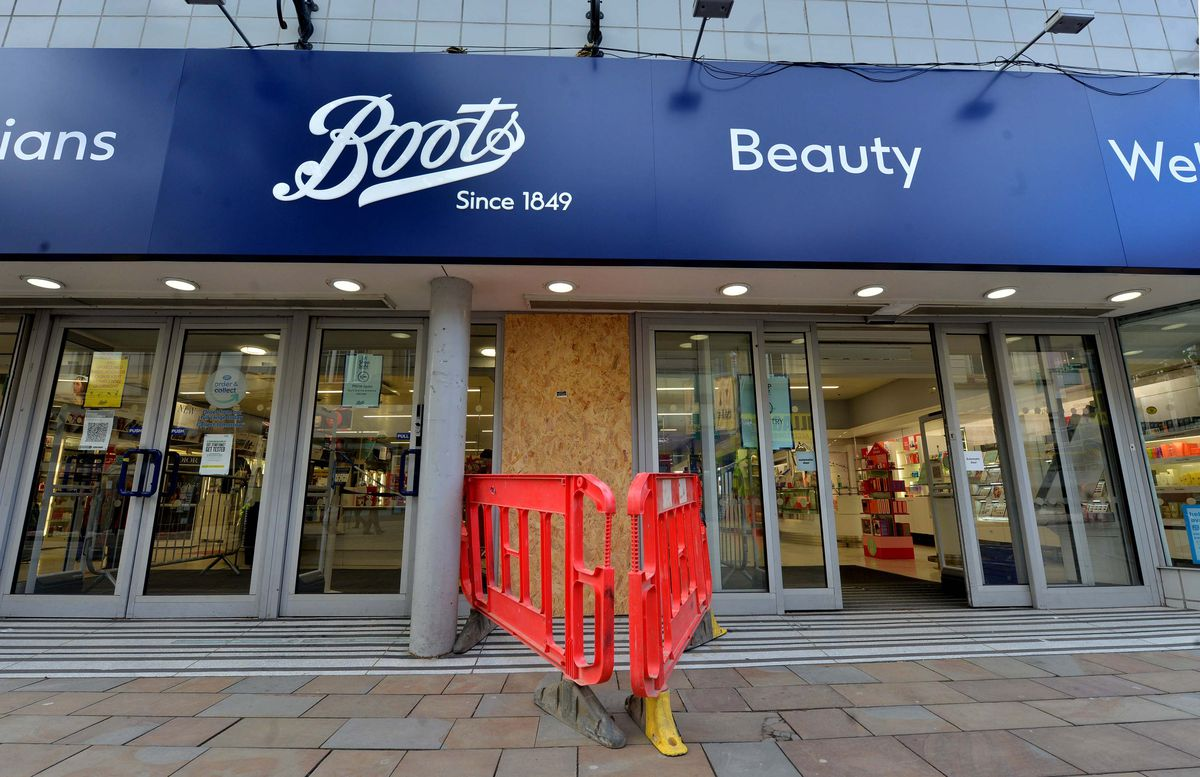 Boots in Dudley Street, Wolverhampton, where a ram raid took place overnight