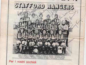 Stafford Rangers team photo from Monza away fixture