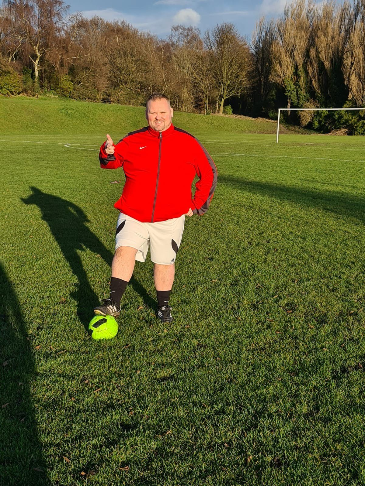 Maurice Willetts almost seven stone lighter
