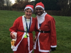 Hundreds of Santas raise money for Acorns Children's Hospice