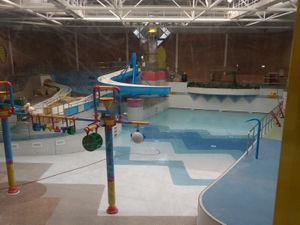 The empty swimming pool at Crystal Leisure Centre, Stourbridge