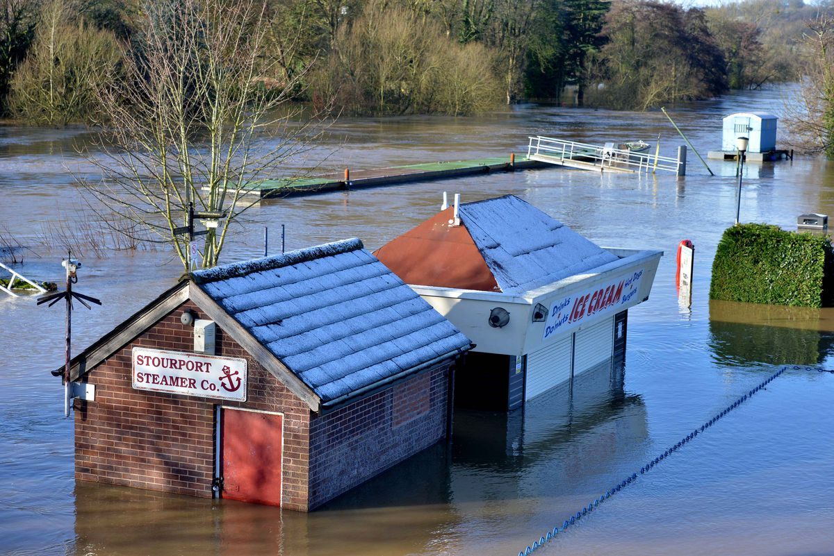 River Severn flooding in Stourport on Saturday
