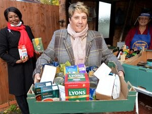 Councillor Zee Russell is on a shortlist of five for the Cllr Lifetime Achievement award. She is pictured with Councillor Sandra Samuels and Jan Kellond from the Friends of Di's kitchen on a food bank delivery
