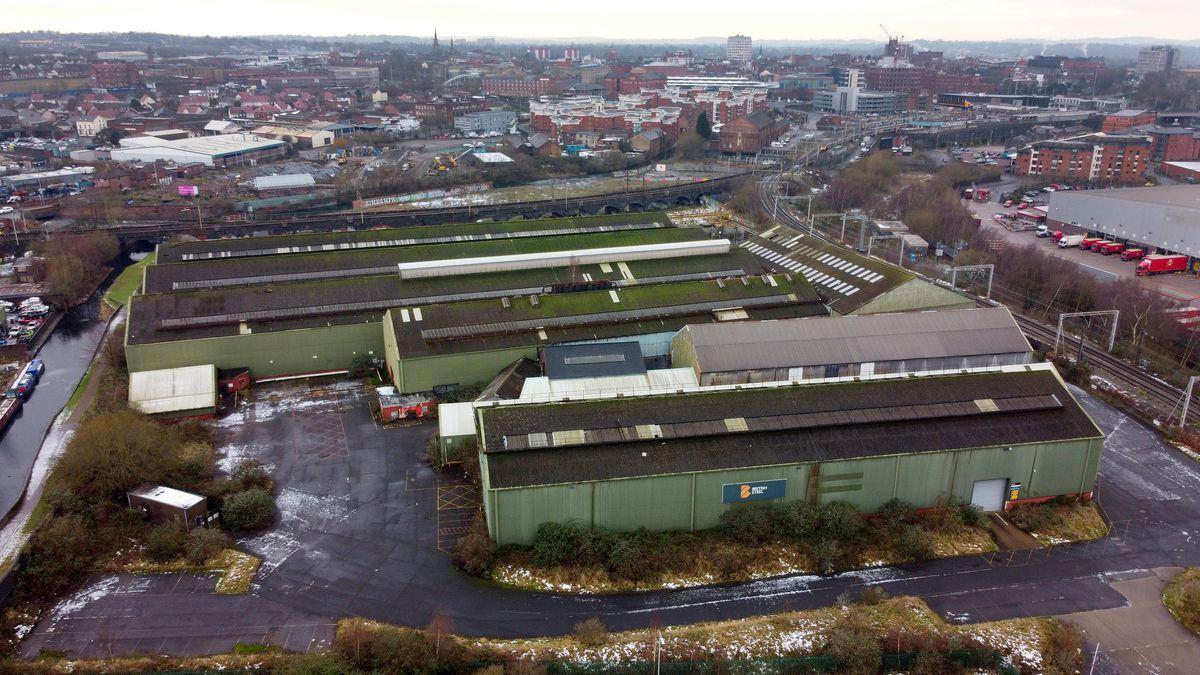 The former British steel site in Qualcast Road, Wolverhampton