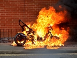 WATCH: Lucky escape for motorcyclist whose bike goes up in flames
