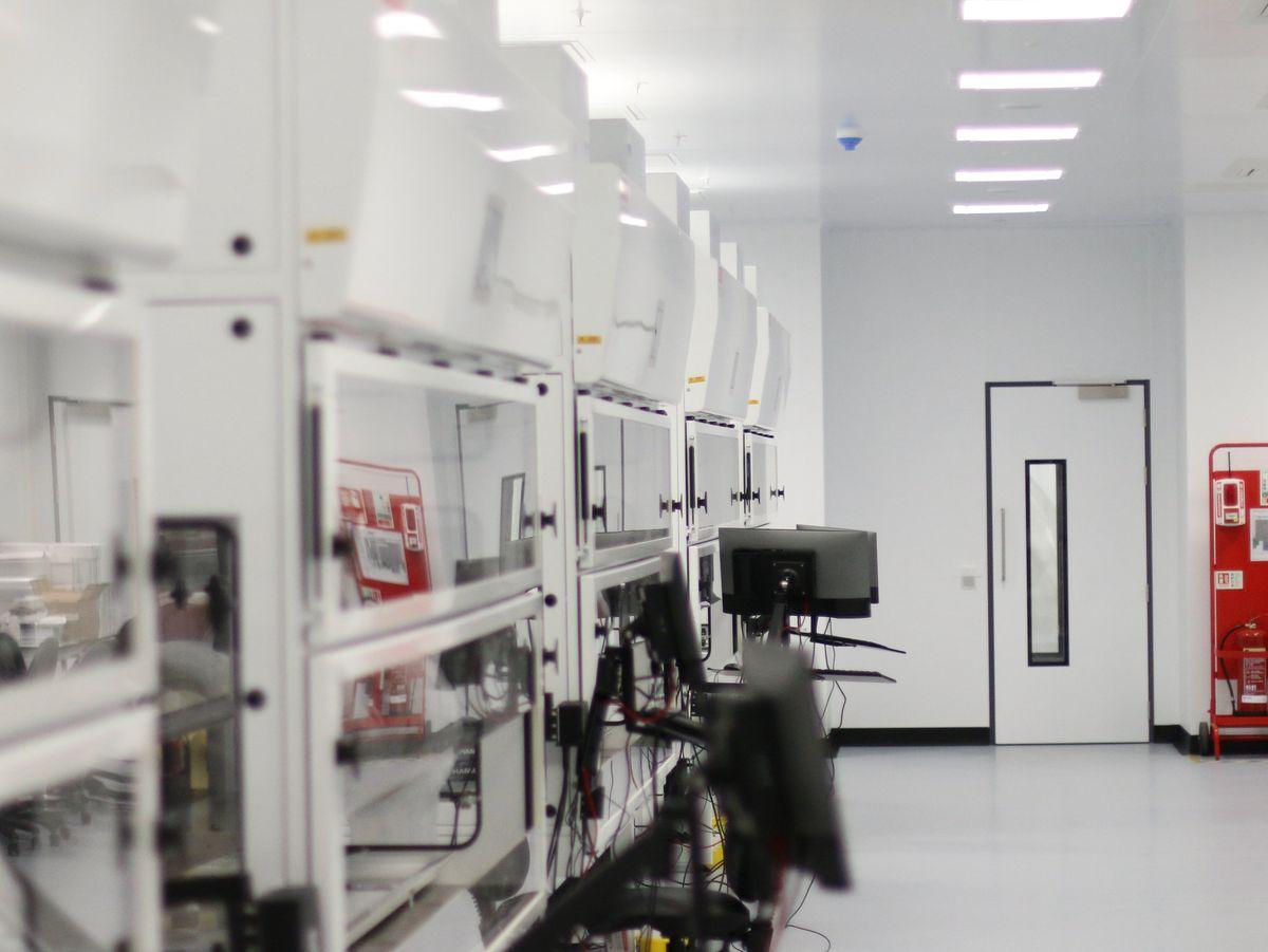 PCR test laboratory