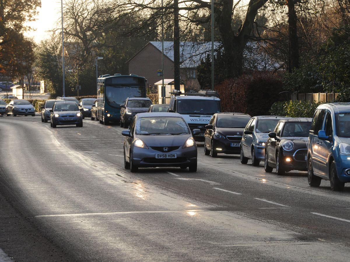 There is a warning over ice on roads and pavements today