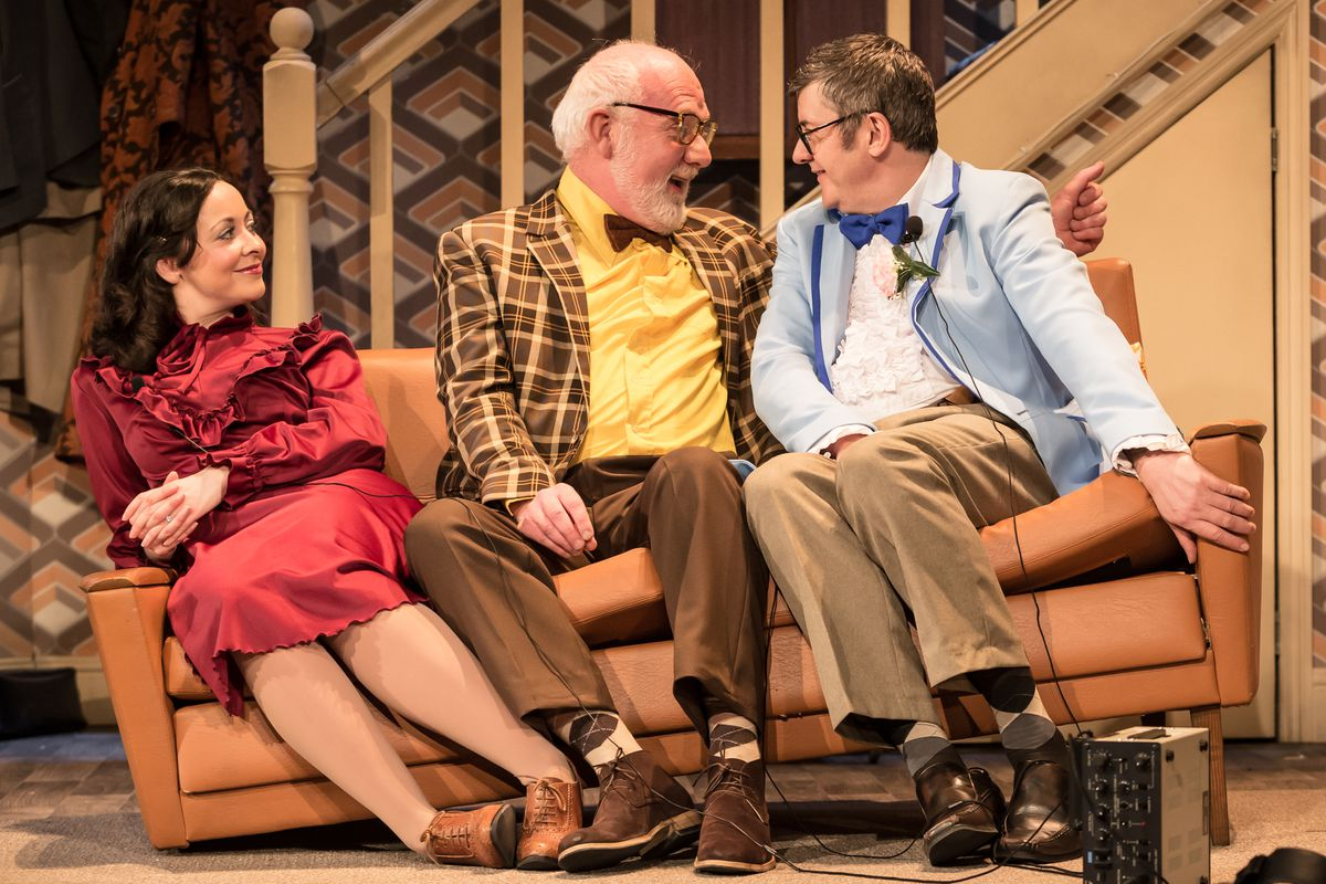 Sarah Earnshaw as Betty, Moray Treadwell as Mr Luscombe & Joe Pasquale as Frank Spencer in Some Mothers Do 'Av 'Em. Picture by: Scott Rylander