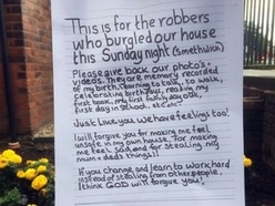 Read the heartbreaking letter by a five-year-old asking a burglar to return family mementos