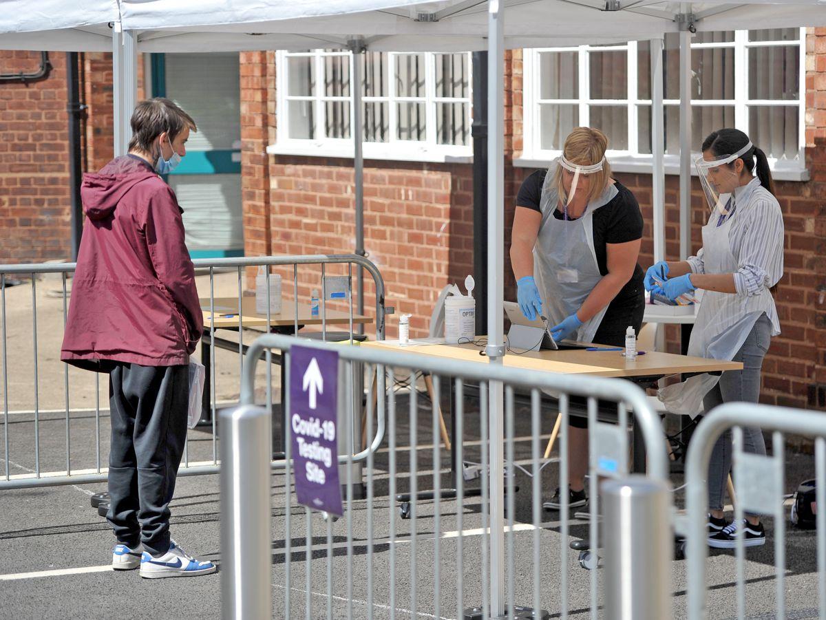 The walk-in test centre in Wolverhampton