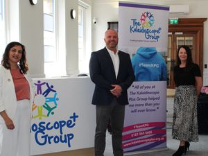 From left Monica Shafaq, CEO of Kaleidoscope Plus Group, Simon Williams, GMS National Contracts Manager and Rachel Freeman, GMS HR Director. Both Simon and Rachel are Mental Health First Aiders