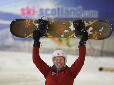 Finance Secretary takes to the slopes for snowboard lesson