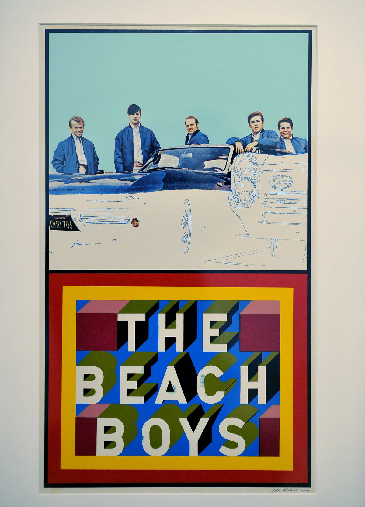 The Fantasy Pop exhibition at Wolverhampton Art Gallery..The Beach Boys, by Peter Blake, 1964
