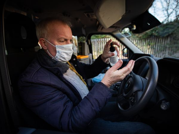London's taxi and private hire drivers are to receive an additional 1.5 million face masks and 30,000 bottles of hand sanitiser, Transport for London has announced (TfL/PA)