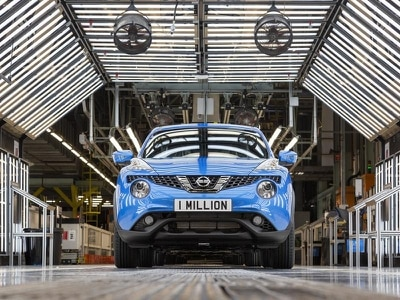 One millionth Nissan Juke rolls off Sunderland production line