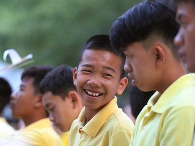 Thai cave boys mark year rescue ordeal anniversary with Buddhist ceremony