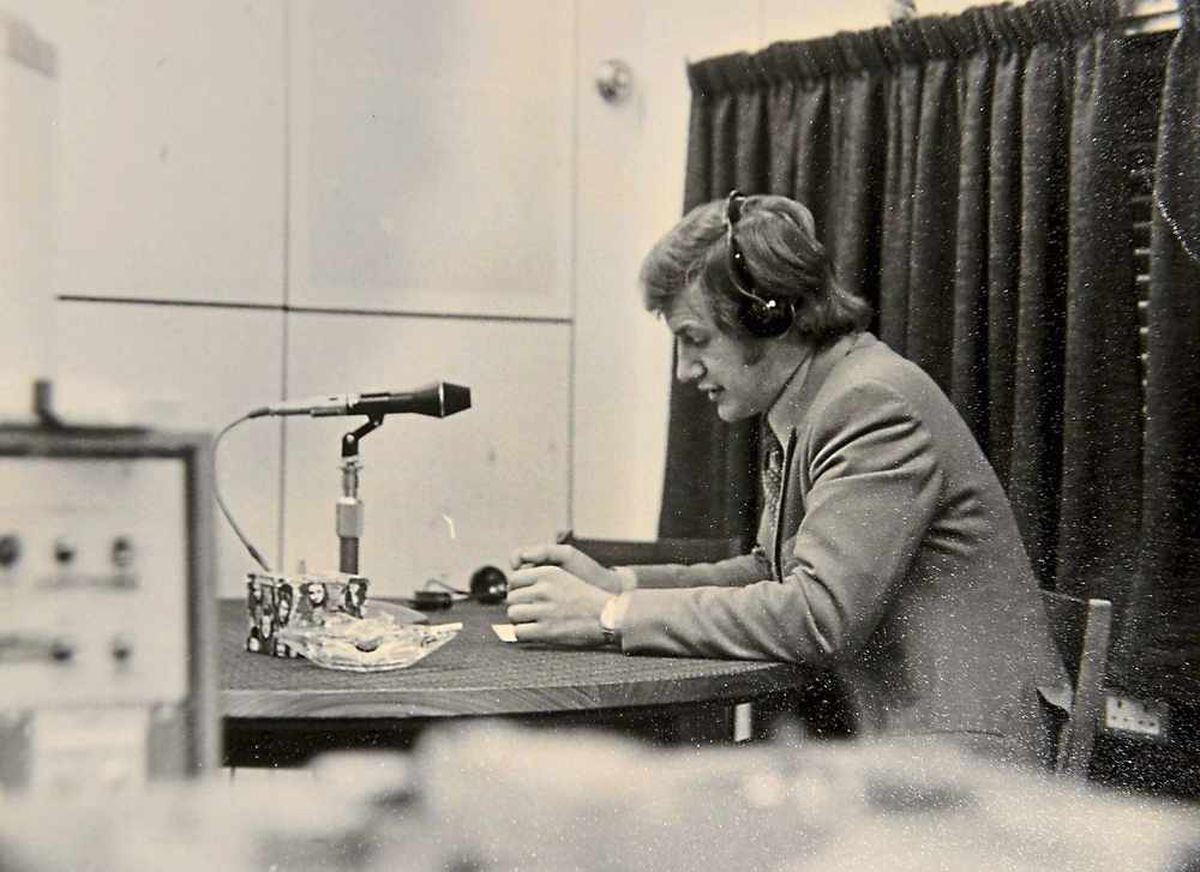 On air - Bob's first broadcast for Radio Birmingham in 1970