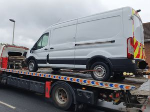 The van was recovered following a chase around Kingswinford. Photo: West Midlands Police.