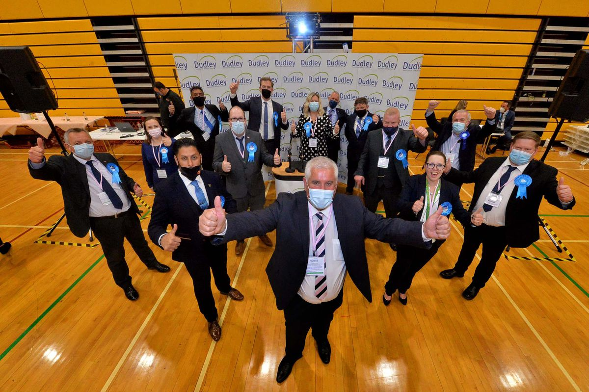 Jubilant Dudley Conservatives were among the first to hear the results