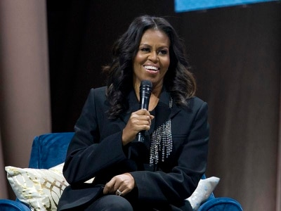 Special guest drops in on Michelle Obama's book show