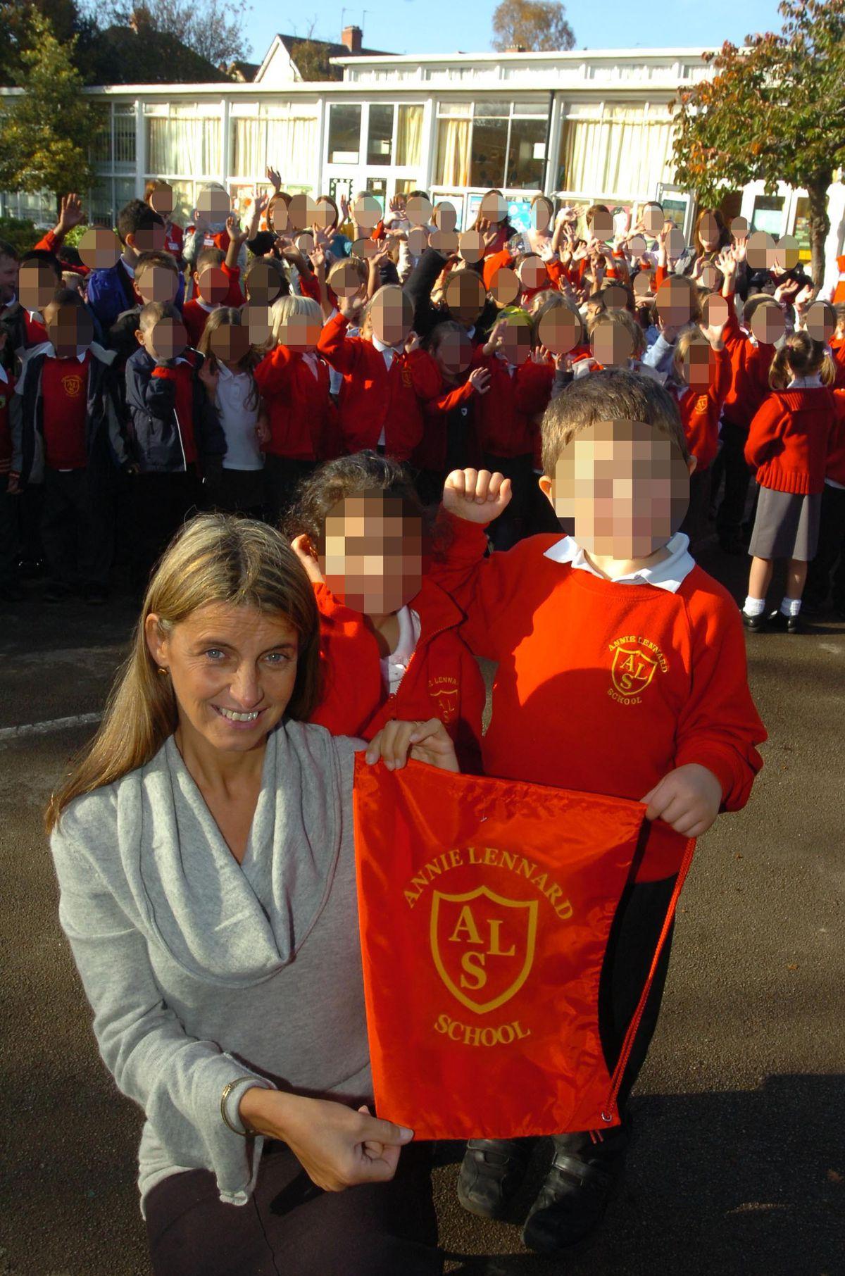 Ex-headteacher Michelle Hollingsworth pictured at Annie Lennard School in November 2007