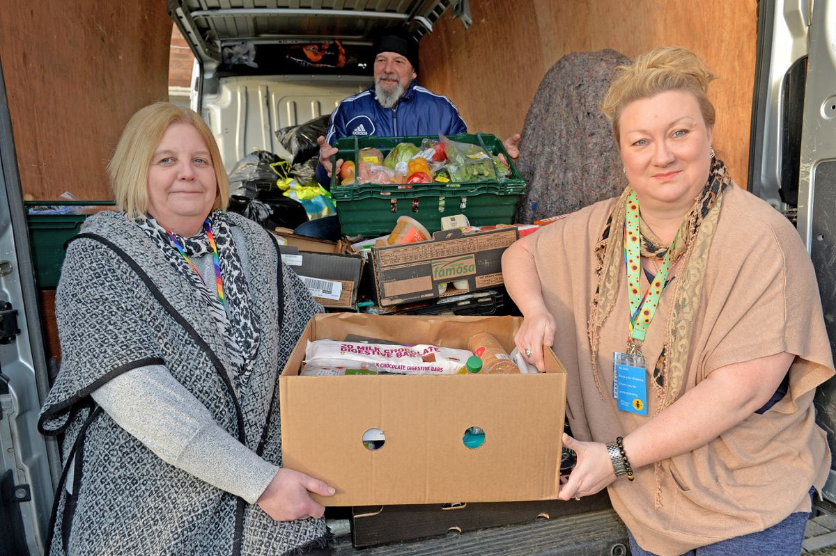Helen Allman, Carl White and Debbie Cartwright who run weekly food donations in Hednesford which has just expanded into Cannock and Rugeley.