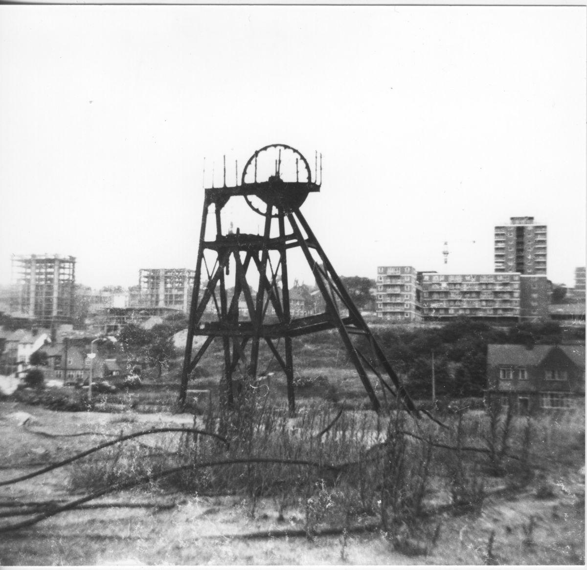 The Chapel Street estate in Brierley Hill under construction in 1966