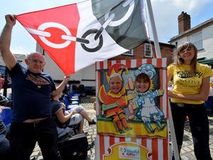 Cllr Doug James, Vicki Phipps , Denise Gold and poet Emma Purshouse in Walsall for Black Country Day last year