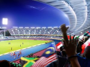A promotional image of how the Alexander Stadium could look for the Commonwealth Games - image courtesy of Birmingham City Council